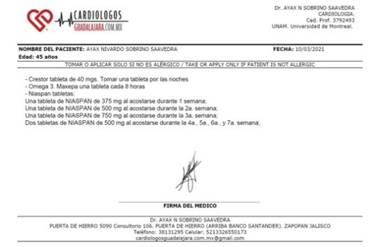 Expediente Receta electronica Online